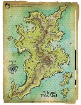 Island of Hsst Akal Map - Copyright Glynn Seal