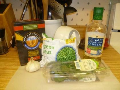 Pea Pesto Ingredients