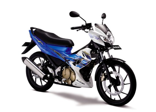 2011 Suzuki Satria F150 AHO Striping Blue White