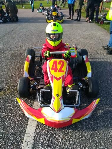 Leon Barlow 42 Cadet Karting