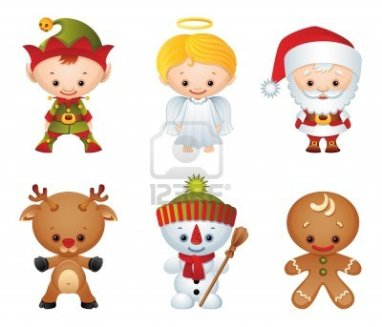 5263070-vector-illustration--christmas-characters-icon-set