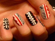 david-bowie-inspired-jumpsuit-red-black-white-nails-3
