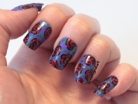 may-tri-polish-tuesday-purple-green-red-models-own-barry-m-flowers (2)