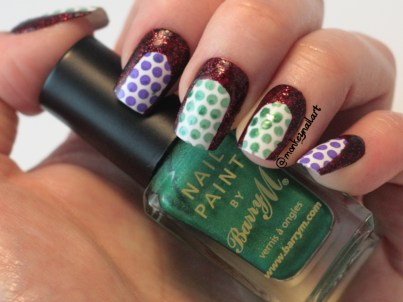 may-tri-polish-tuesday-purple-green-red-models-own-barry-m-moyou-professional (5)