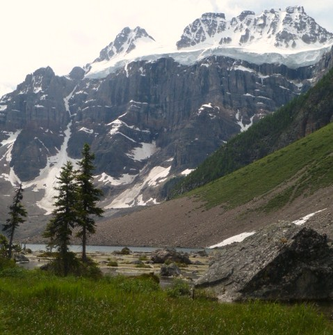 View of glacier from Panorama Ridge
