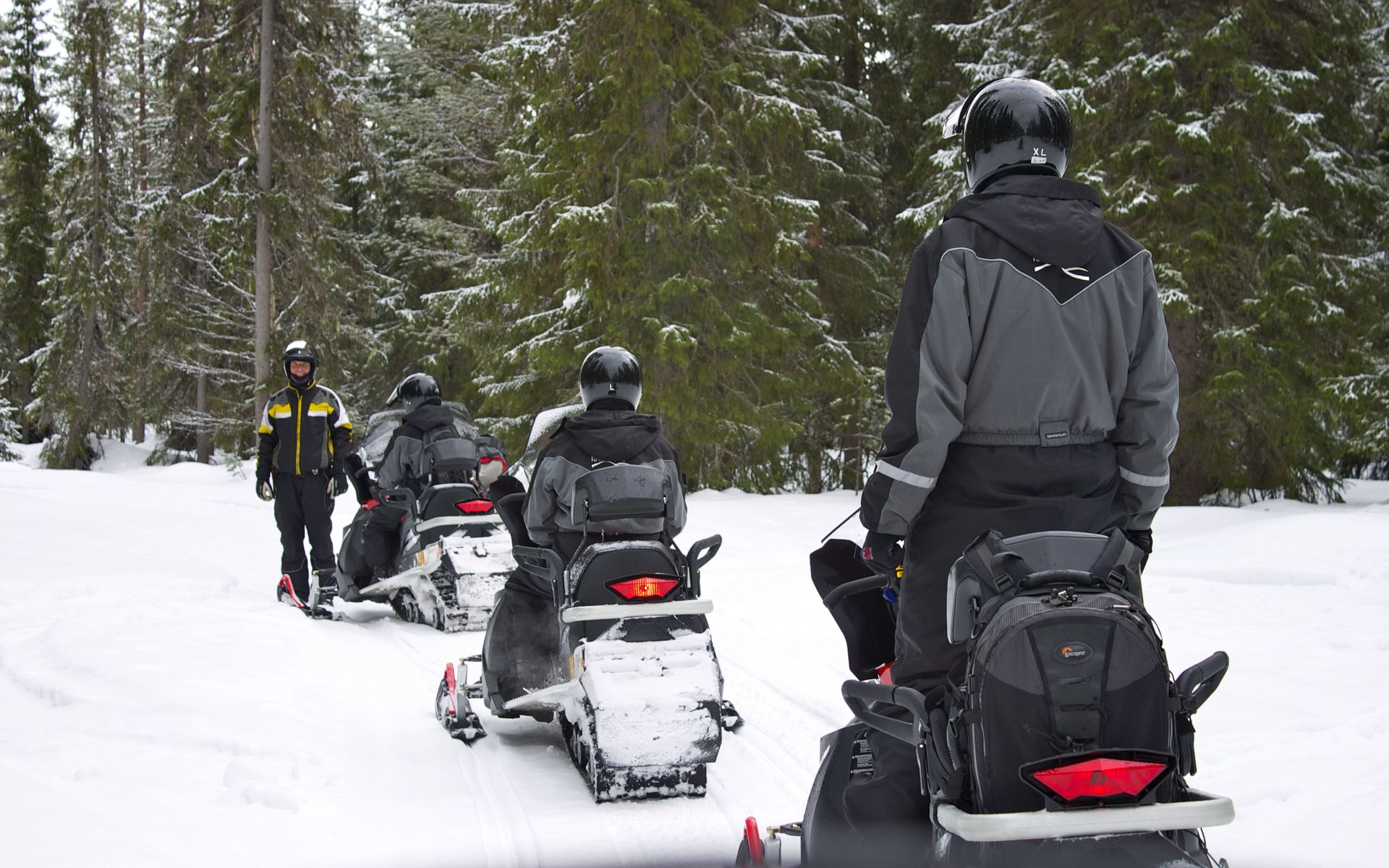 snowmobiling in Iso-Syöte, Finland