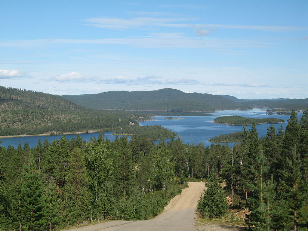 I will cycle by Lake Inari in Lapland, Finland