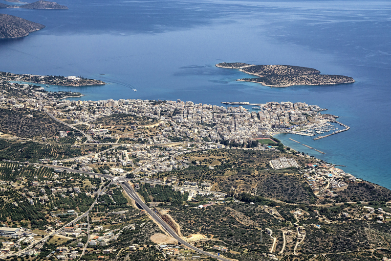 adventures in a helicopter - flying over Crete, Greece