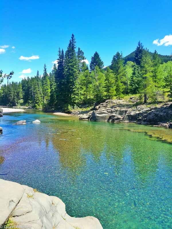 Crystal clear waters in the Castle Wilderness. It's home to 34 headwater streams.