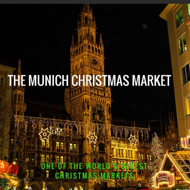 Munich Christmas Market in Bavaria Germany