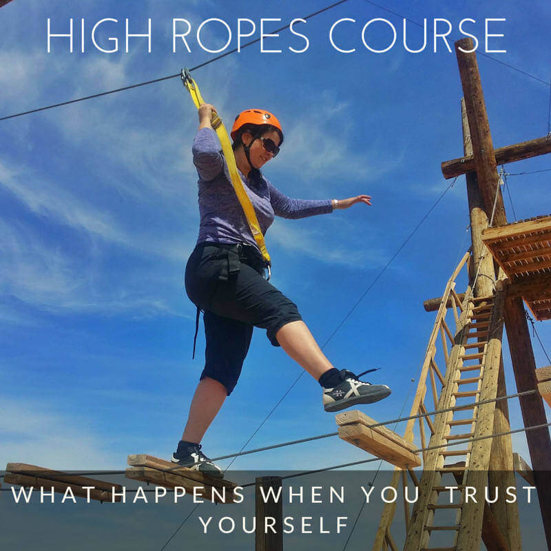 Adventurous high ropes course outside of Las Vegas