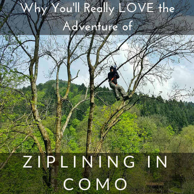 ziplining adventures in Como Italy