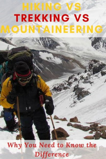 what's the difference between hiking, trekking, and mountaineering? The differences between these 3 adventures are explained here