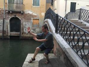 training while traveling in Venice