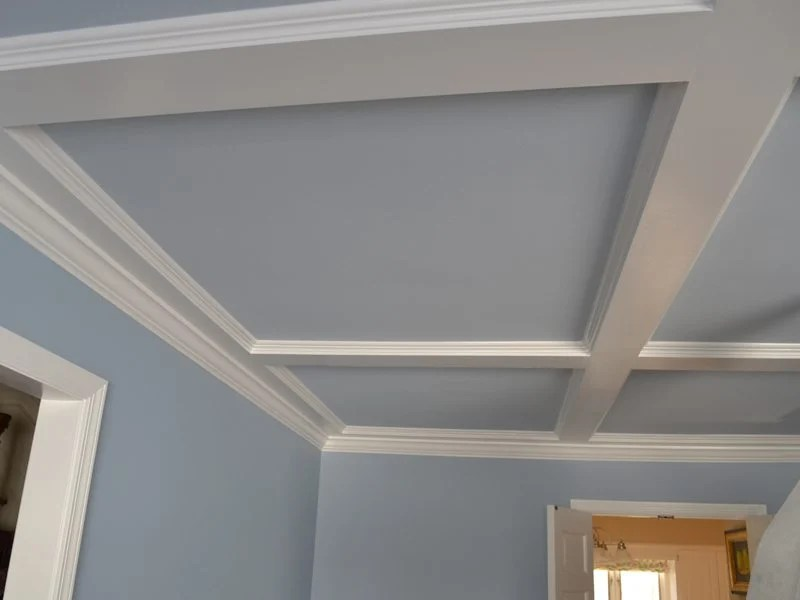 Coffered Ceiling Installation And Painting Mendham Monk