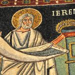 Mosaic images of Jeremiah holding a scroll