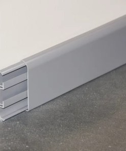 plinthe passe-câbles pvc gris 1 mètre