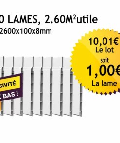 Lambris PVC blanc - 100mm - Lot de 10 lames