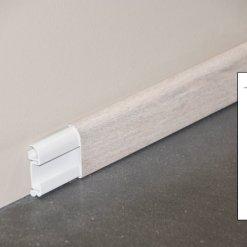 Plinthe cimaise PVC décor revêtu chêne cendré - ouvert + schéma