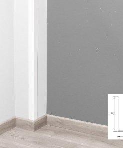 Profilé d'angle pvc cellulaire 50x50mm coloris blanc