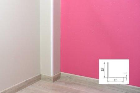 Cornière PVC blanc - 25mm