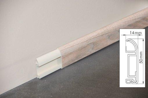 Plinthes cimaise chêne naturel 1 mètre