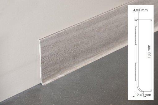 Plinthe à lèvre rigide PVC chêne de wallonie avec dimensions