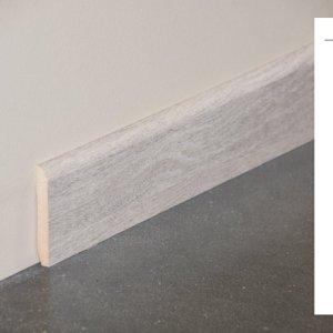 Plinthe MDF décor revêtu chêne cendré - 70x10mm + schéma
