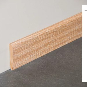 Plinthe MDF décor revêtu chêne cérusé - 70x10mm + schéma