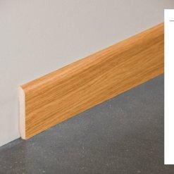 Plinthe MDF décor revêtu chêne français - 70x10mm + schéma