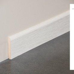 Plinthe MDF décor revêtu pin blanc - 70x10mm + schéma