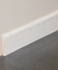 Plinthe mdf décor pin blanc 1 mètre