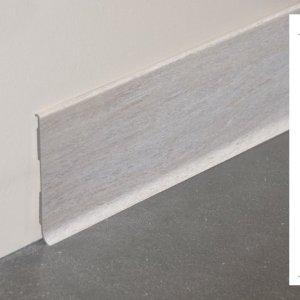 Plinthe rigide à lèvre PVC décor revêtu chêne cendré - 100mm