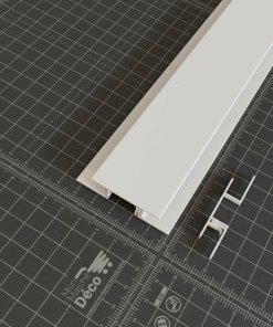 Profil multifonctions clipsable PVC en blanc