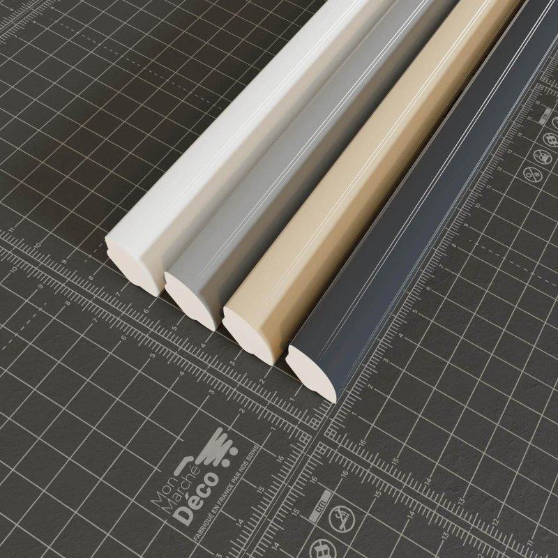 La gamme quart de rond en PVC cellulaire uni