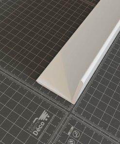 Profil d'angle PVC 50mm blanc