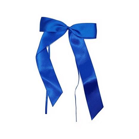 nœud de mariage en satin bleu x 10 grand modele decoration de mariage romantique pour voiture