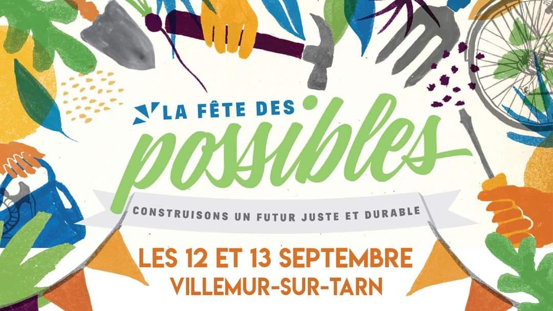 Fête des Possibles à l'Usinotopie de Villemur sur Tarn 12 et 13 septembre 2020