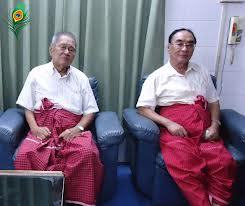 Nai Ngwe Thein and Nai Htet Lwin (Photo: Mizzima)