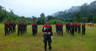 Female Mon soldiers at the 67thAnniversary of Mon Revolution Day held at NMSP's headquarters [Photo: Facebook]