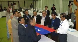 UNFC's new EC members taking an oath(IMNA)