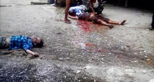 people killed instantly by artillery shell (Photo: Yemyat Zaw)