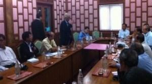 Meeting between UNFC and UNA members