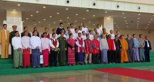 Group photo of President U Thein Sein and representatives of ethnic armed groups
