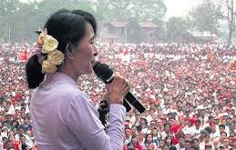 Daw Aung San Suu Kyi visits Mon State in 2012
