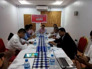 Mon Hluttaw representatives at the meeting (Photo: Guiding Star)
