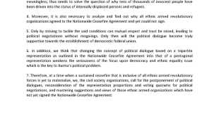 copy of the joint statement on the Union Peace Conference (Photo: MNA)