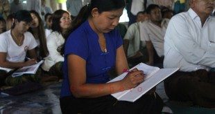 Mi Jalon Htaw, Tarana's first woman village tract administrator (Photo: MNA)