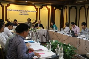Workshopping key principles and characteristics for the federal union of Burma (Photo: Irrawaddy)