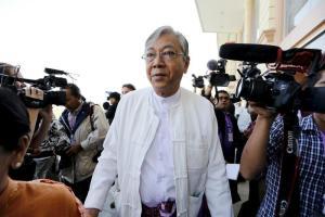 President-elect U Htin Kyaw (Photo: Reuters/Soe Zeya Tun)